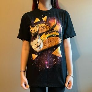taco cat shirt in space